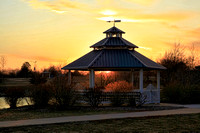 Gazebo and Setting Sun